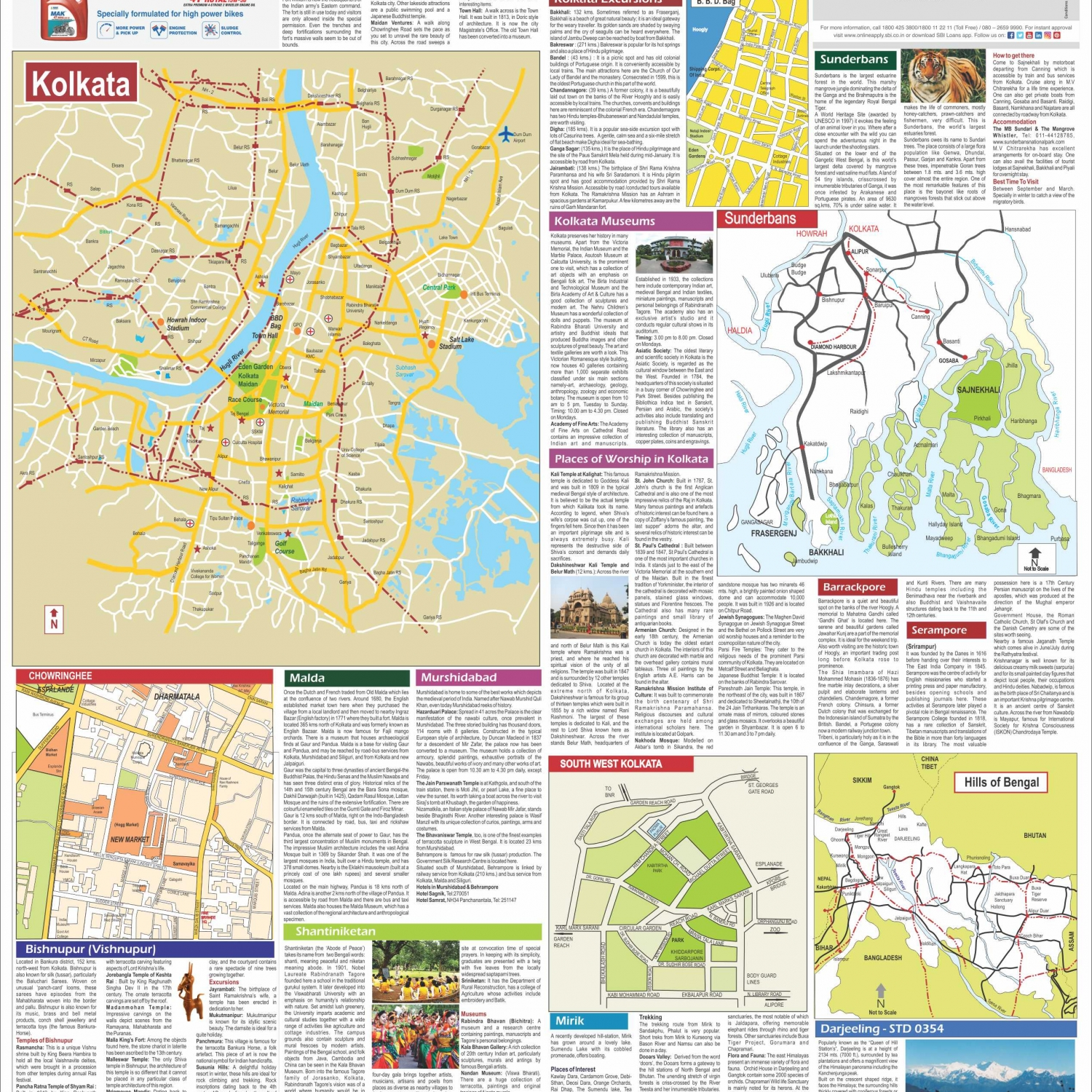 discover west bengal a travel map